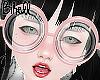 B! Nerd Glasses Pink