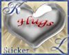 Hugs Aluminum Heart