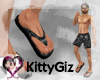[KG] Black Camo Sandals