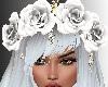 SxL White Rose Hair