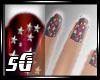 SG-Dainty red stars nail