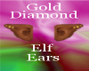 Gold diamond elf ears