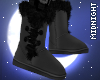☽M☾ Grey Fur Boots