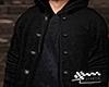 Hoodie bomber all black