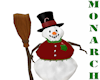 CandyCane Snowman