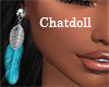 C] Feather Earrings Sil