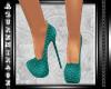 ^AZ^Cocktail Shoes-Green