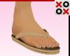 Khaki Flip Flops