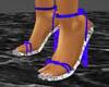 [DA] blue strap heels