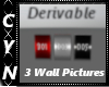 Derivable 3 Wall Picture