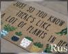 Rus Leaf Plant Door Mat