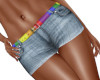 Denim Shorts Rainbow