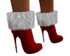 Sassy Boots Red Silver