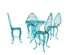 Outdoor table Set/Teal