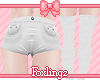 🎀 Cutie shorts white