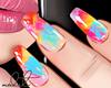♕ Colored Nails