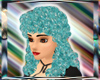 Turquoise sparkle curlyQ
