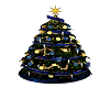 Christmas Tree Blue/gold