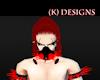 (K) Red Transparent mask