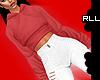 ! RLL + Red Crop Hoodie
