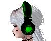 Green heart Headphones