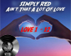 simply red lot of love