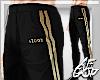 "Ⱥ"" Black Gold Joggers"
