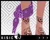 K! Purple Ankle Bandana