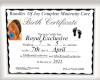 ETE ROYAL BIRTH CERT