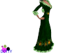 Christmas elf gown green
