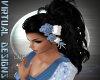 ROSE HAIR FLOWERS BLUE