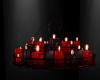 5C Red Black Chandelier