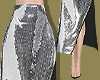 Blk & Sequin Panel Skirt