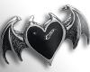bat heart ring