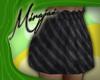 M * Black Chevron Skirt