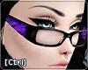 |C| Glasses Zebra Purple