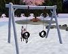 Playground Snowy Swing