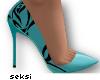 S! Rose Blue Heels