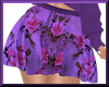 Spring Floral Skirt Purp