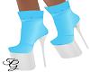 Blue & White Envy Boots