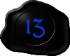 13 Black with Blue 13