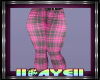 Kids Pink Plaid Jeans 1