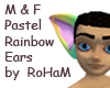 PastelRainbow lemur Ears