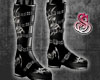 Demon Flame Boots Silver