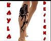 *Rose Leg Tattoo*