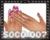 Sangria Manicure/dainty