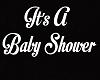 Baby Shower Sign White