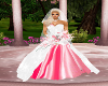 WEDDING GOWN WHITE/PINK