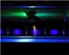 Blue neon dance club
