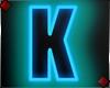 Neon Letter K